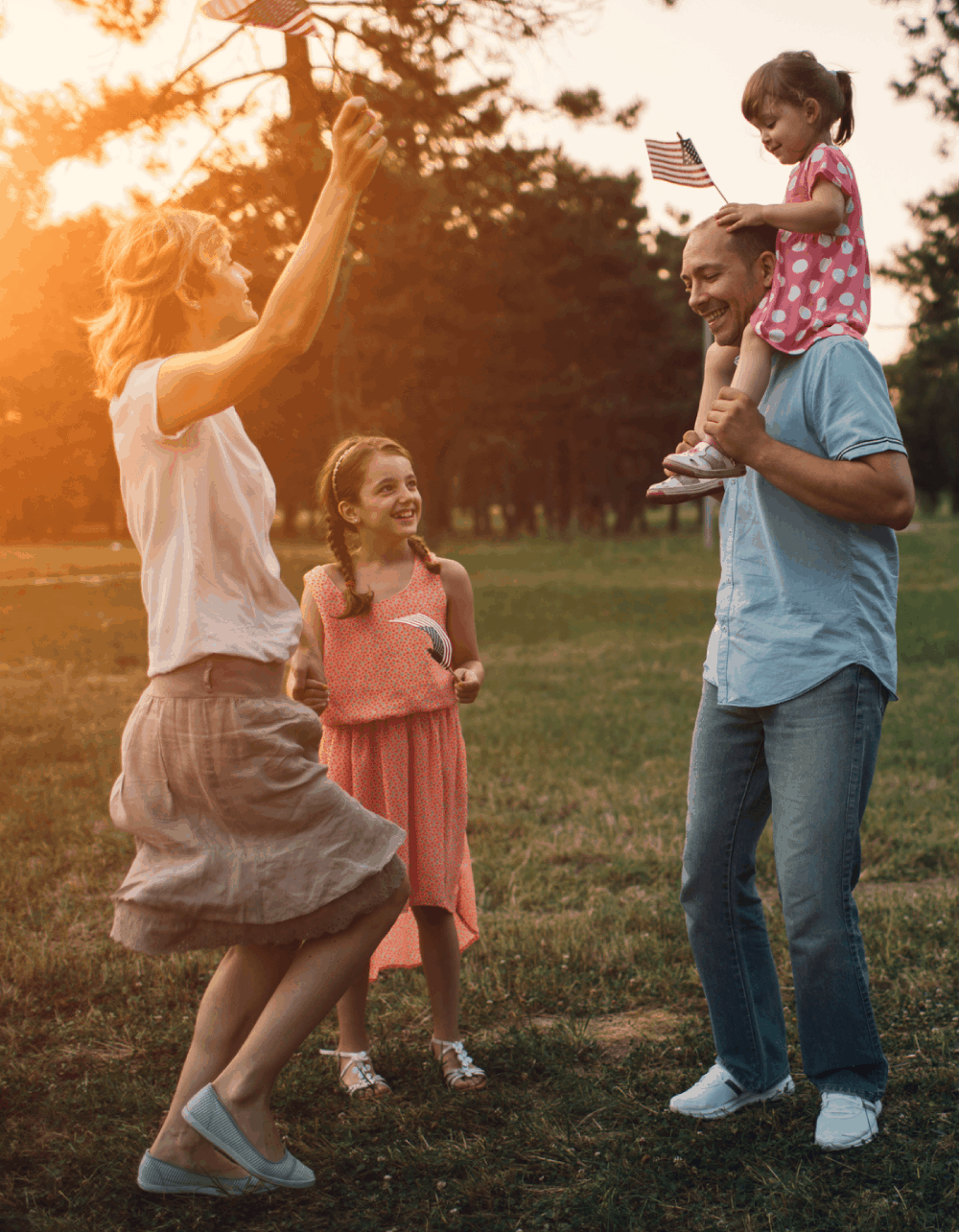 Healthy family enjoying time together.